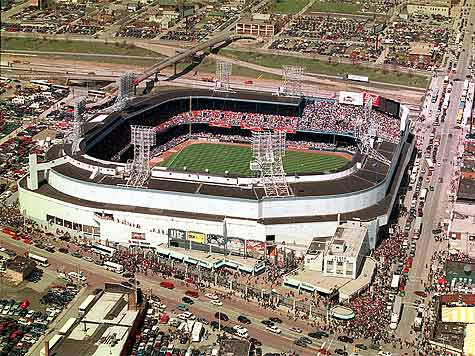 Briggs/Tigers Stadium Detroit Tigers' Baseball Stadium 1938-99 aerial view