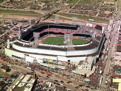 Briggs/Tigers Stadium Detroit Tigers' Baseball Stadium 1938-99 aerial view
