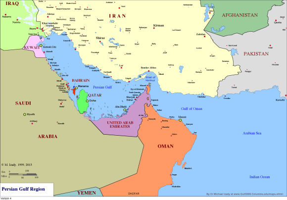 Map courtesy Michael Izady at The Gulf/2000 Project.